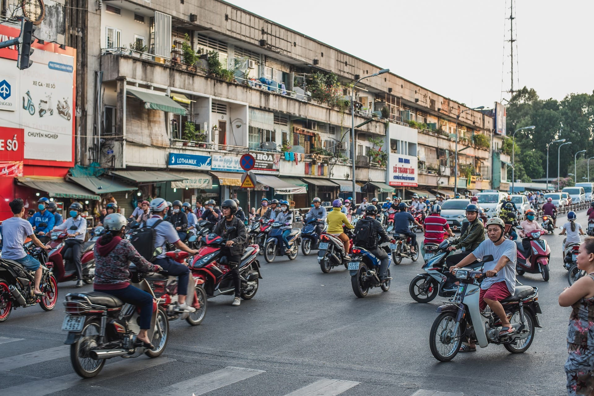 Motorcycle traffic in Saigon