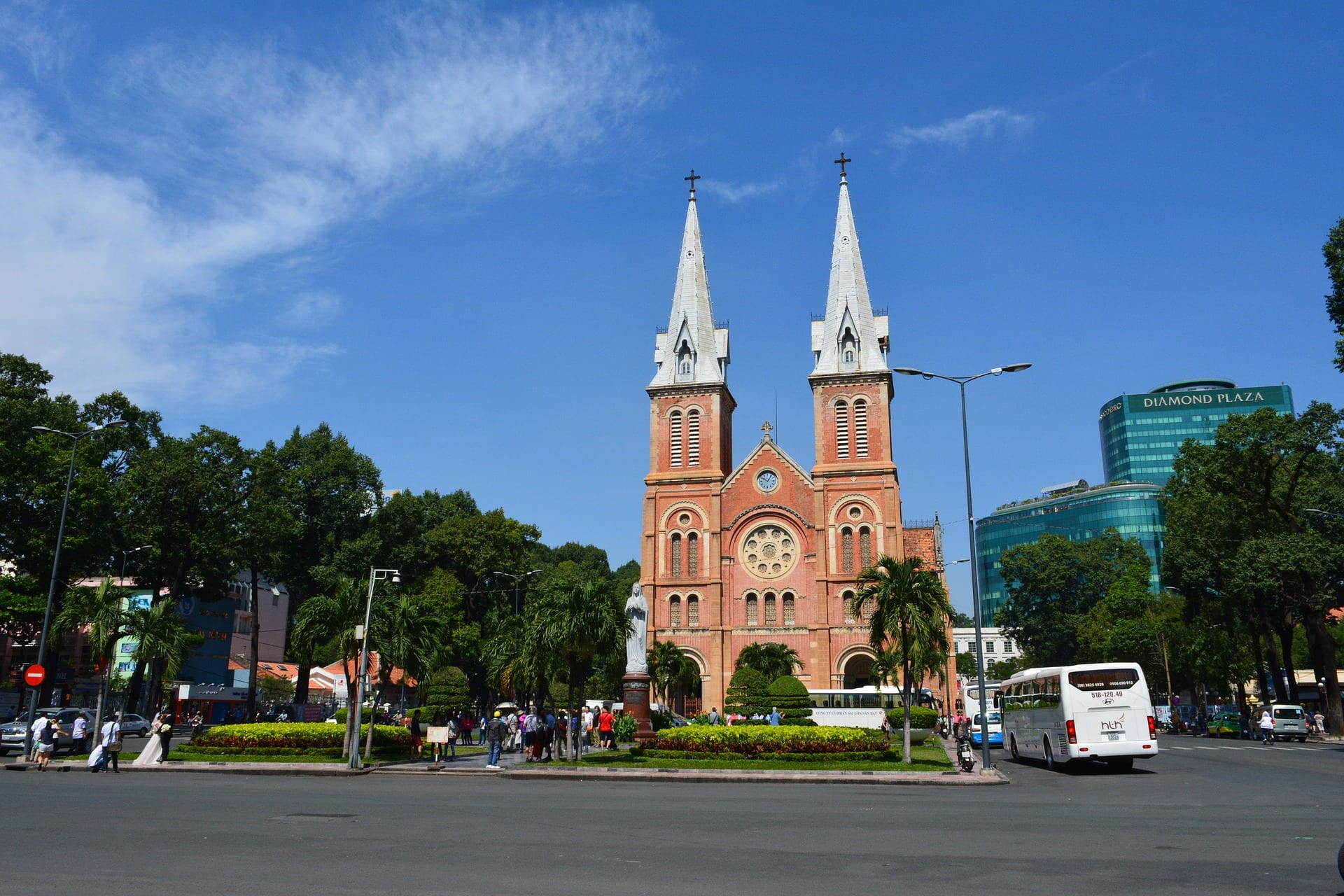 One of the things to do in Saigon is to visit the Notre Dame cathedral