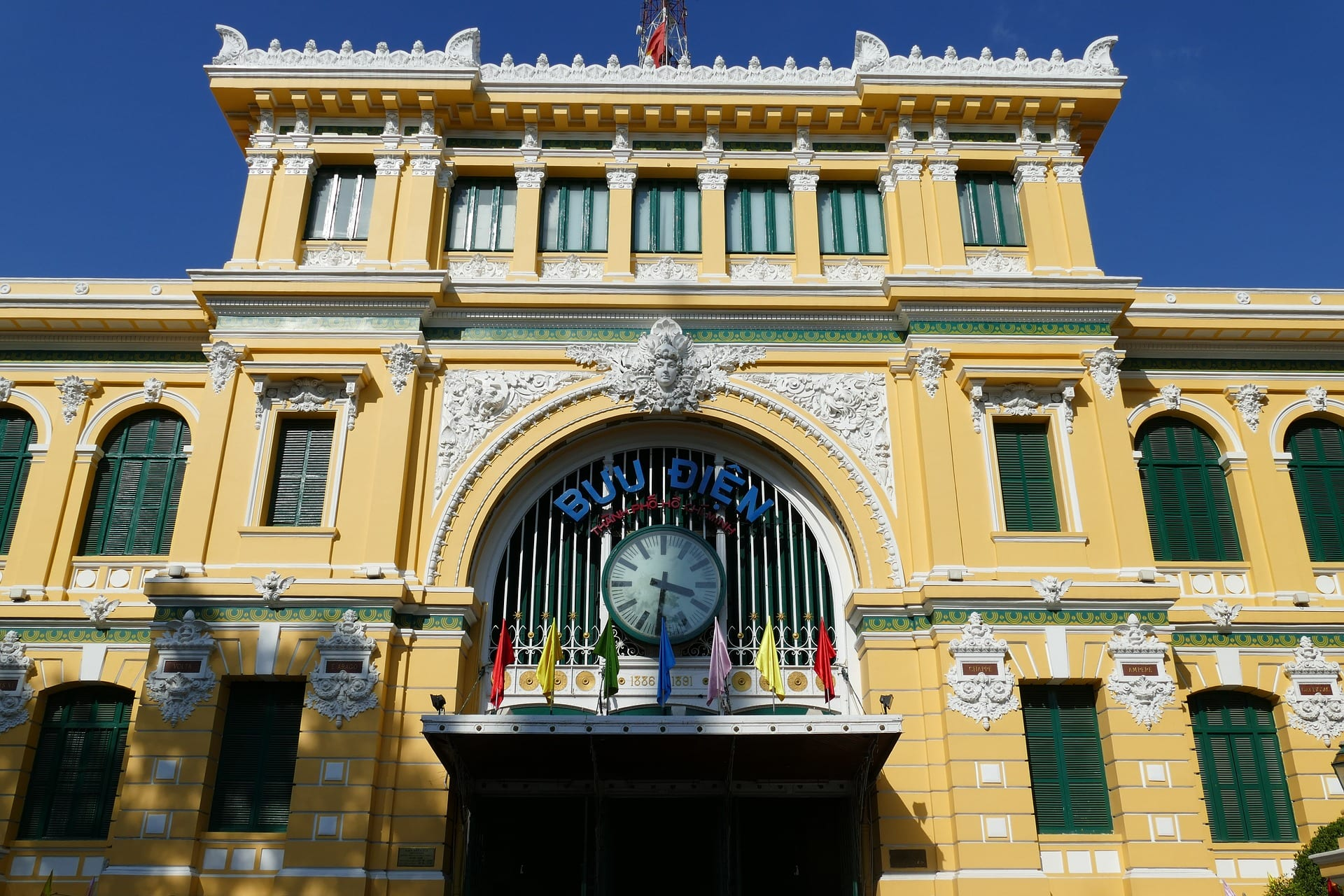 The old Post Office is one of the best places to see in Saigon
