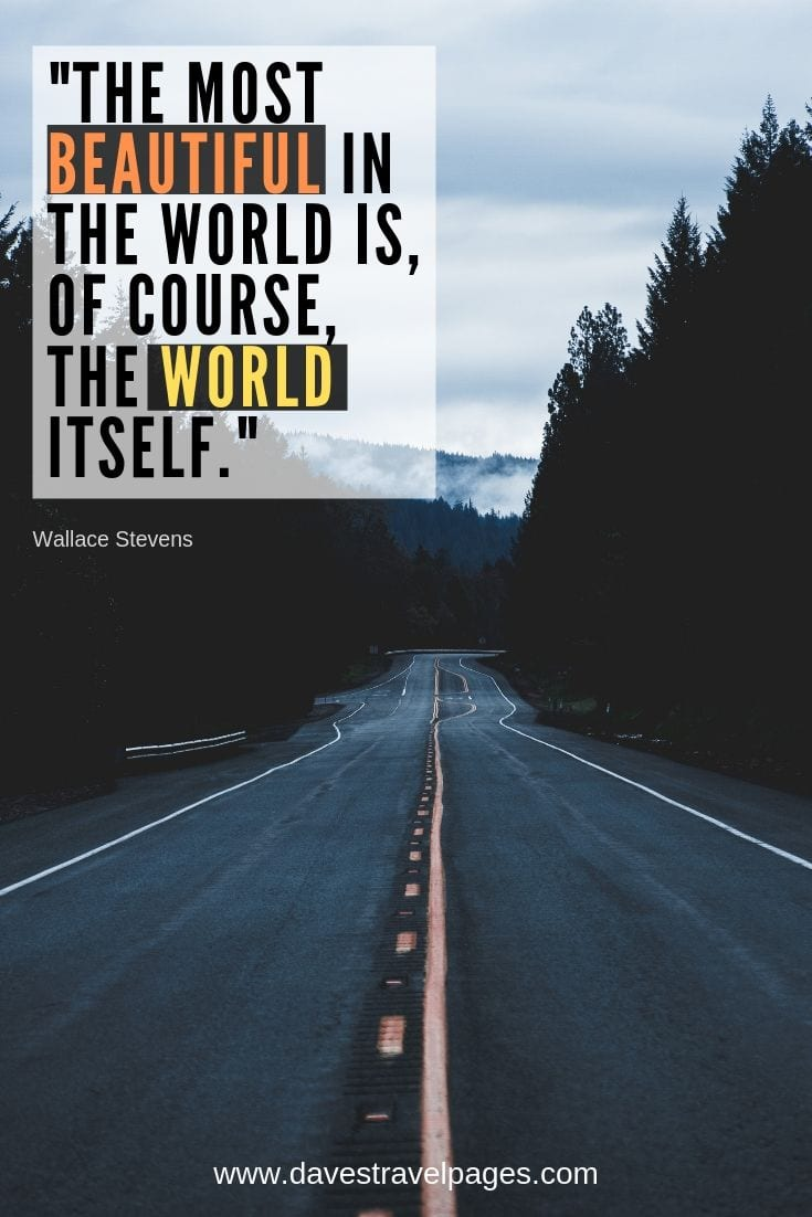 Beautiful world quotes - The most beautiful in the world is, of course, the world itself.