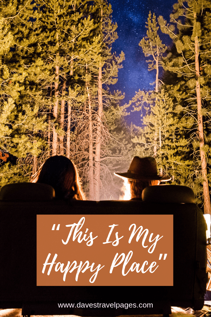 "Camping Captions - ""This Is My Happy Place"""