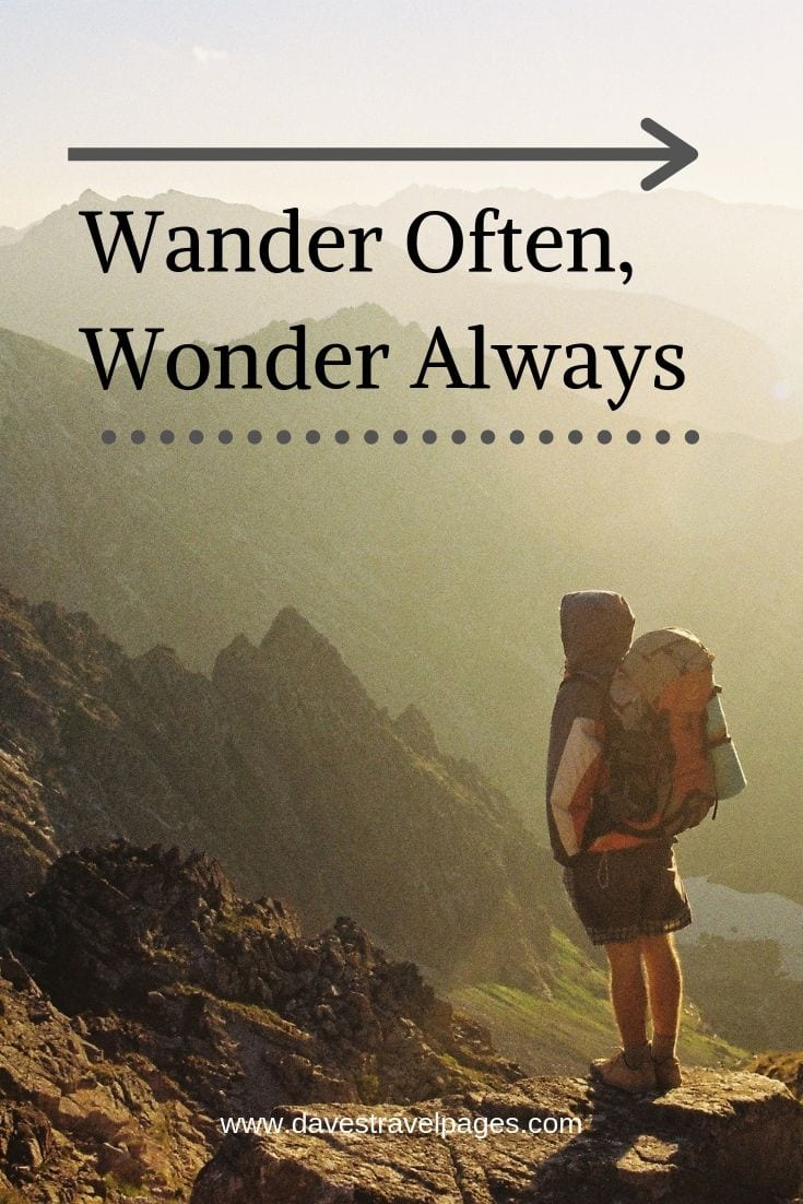 "Camping and adventure quotes - ""Wander Often, Wonder Always"""