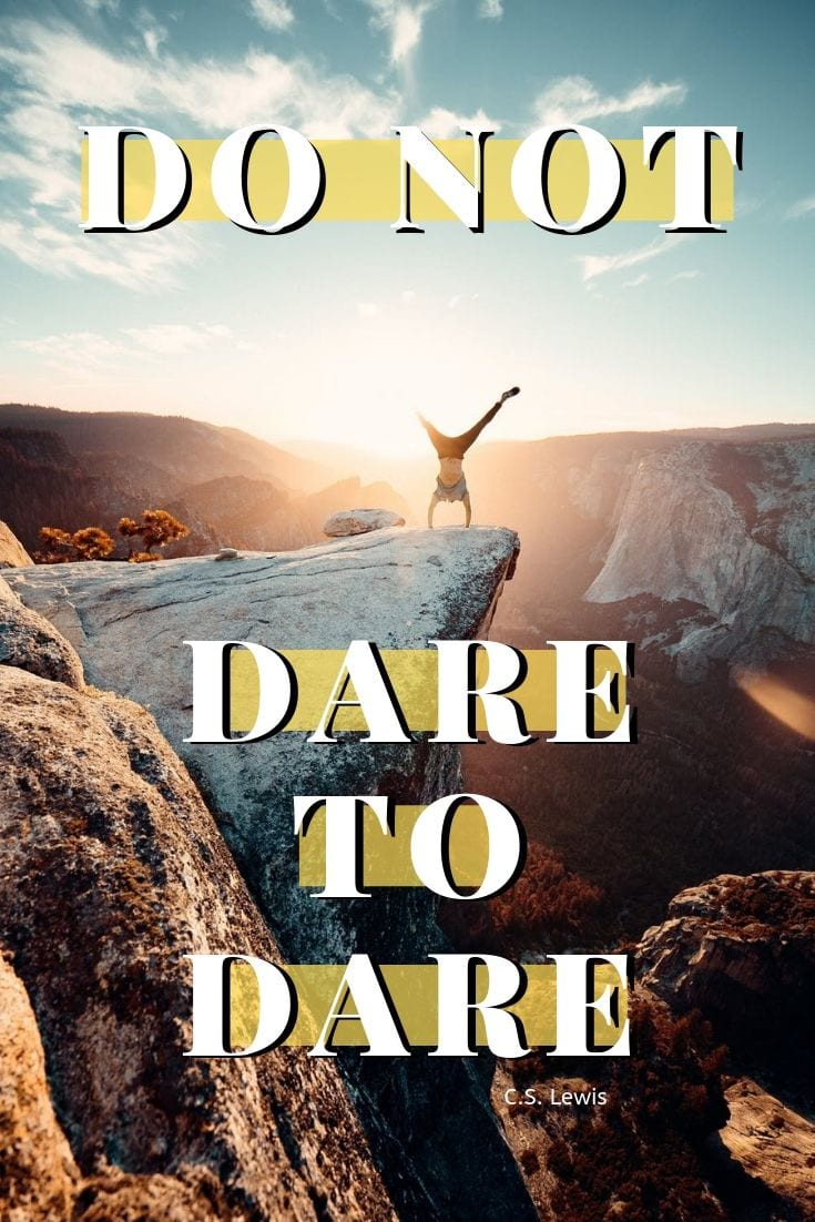 Life is journey quote - Do not dare not to dare.