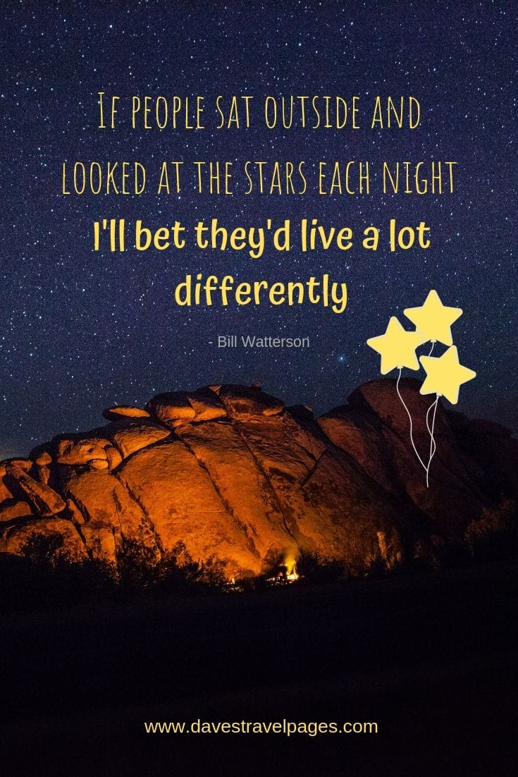 "Quotes about the Stars - ""If people sat outside and looked at the stars each night, I'll bet they'd live a lot differently."""