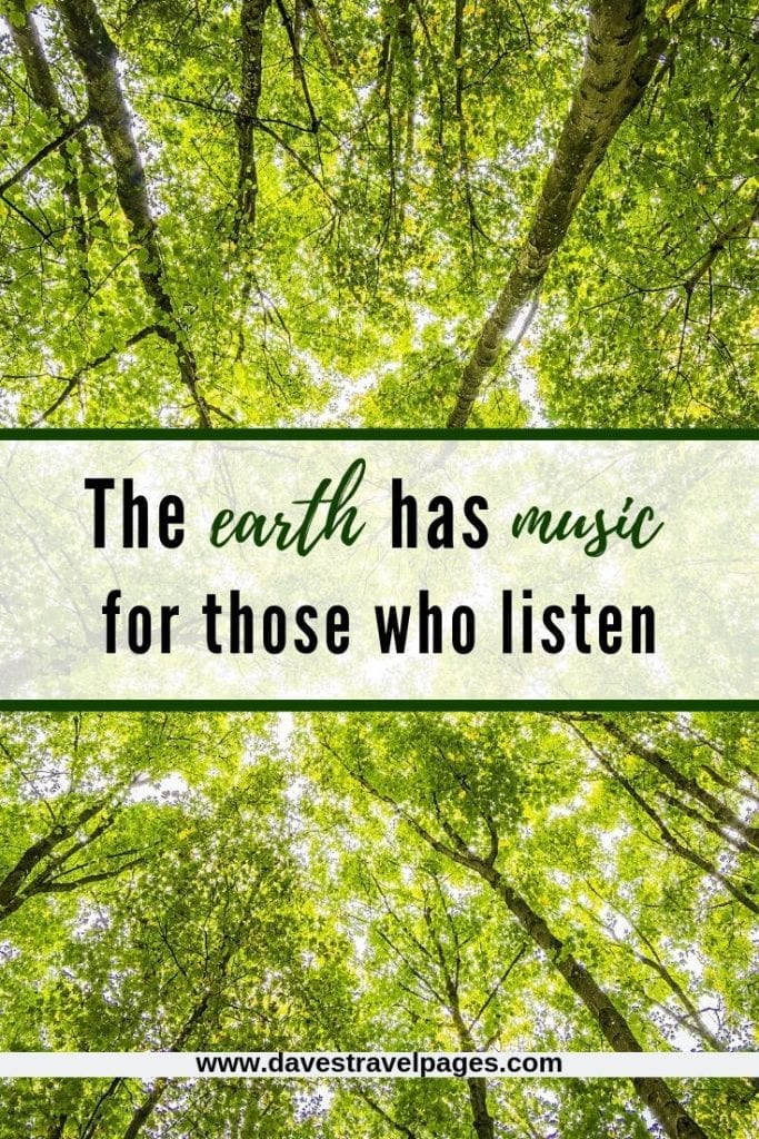 Earth Captions: The earth has music for those who listen.