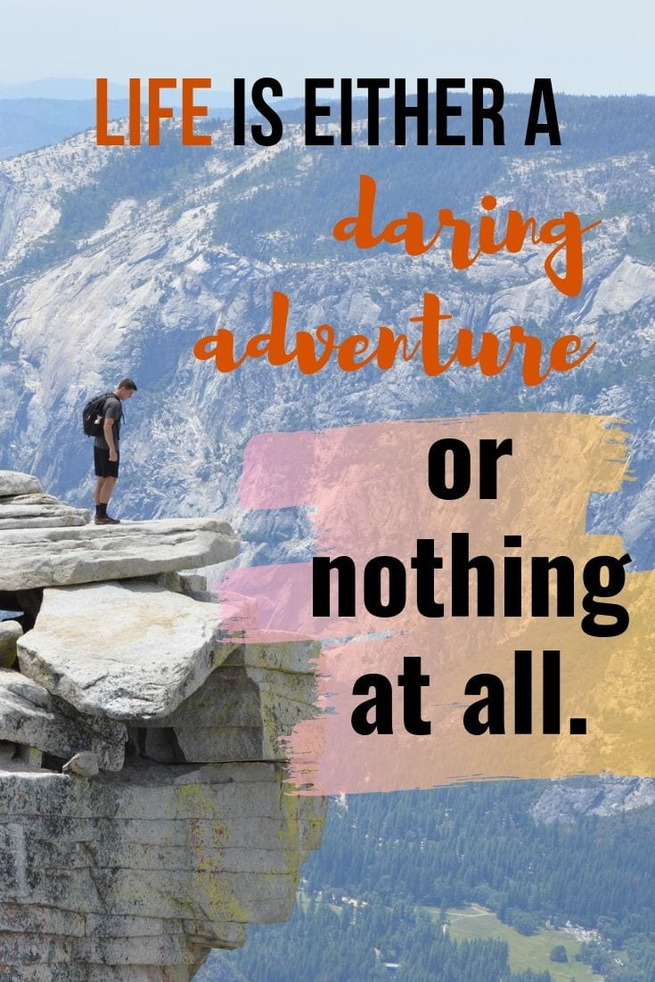 Life is an adventure travel quote - Life is either a daring adventure or nothing at all.