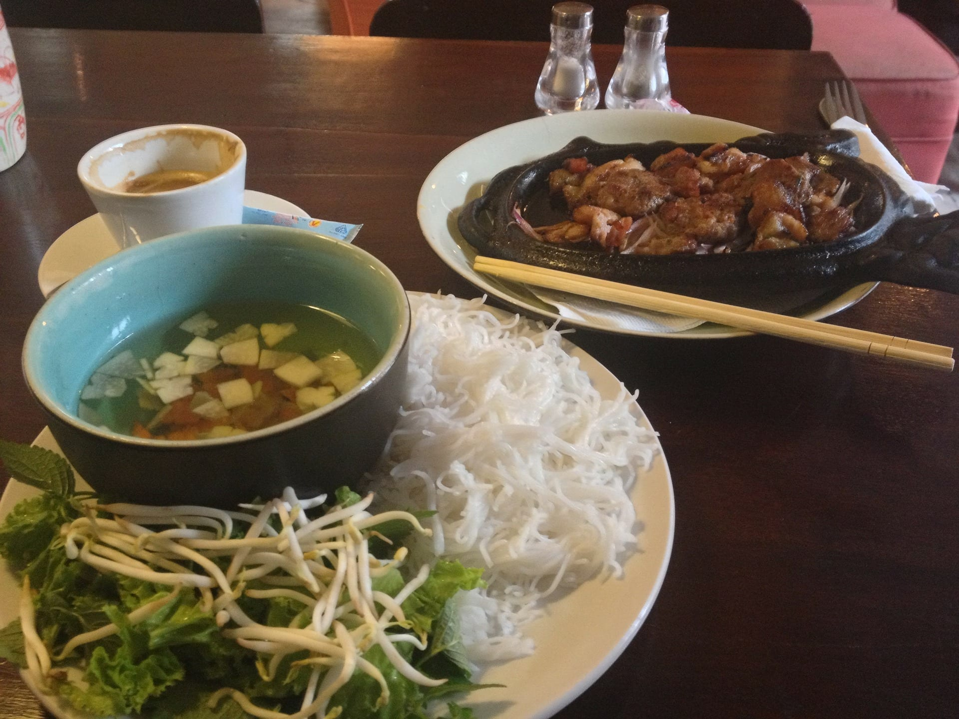 Trying the Vietnamese dishes when spending 2 days in Saigon