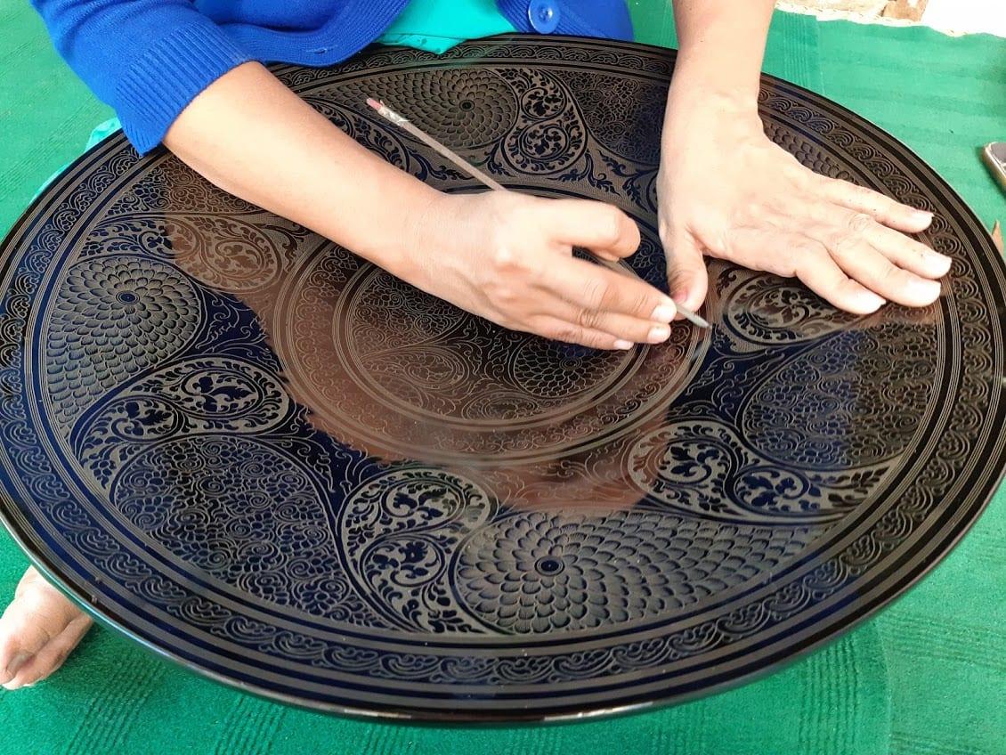 The art of lacquerware making in Bagan