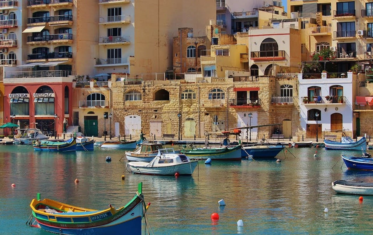 A view of a bay in Malta