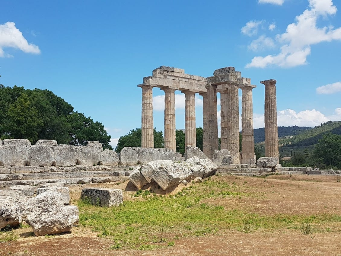 The archaeological site of Nemea in the Peloponnese