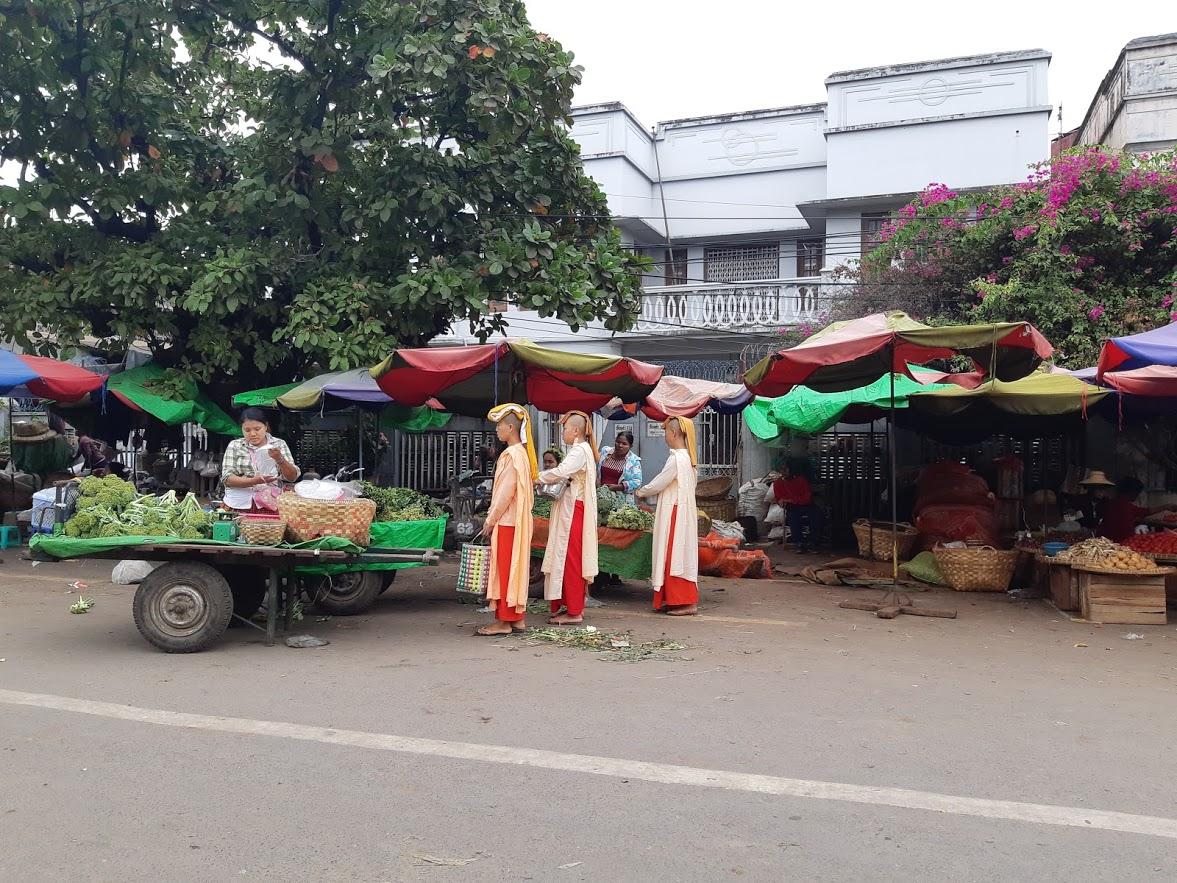 Street scene in Mandalay Myanmar