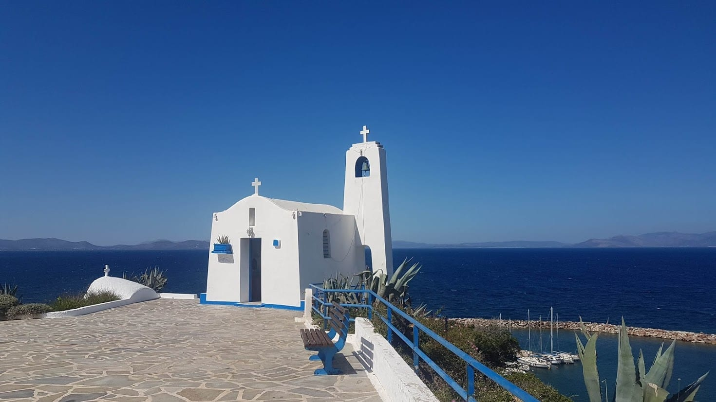 St Nicholas church over looking Rafina Port