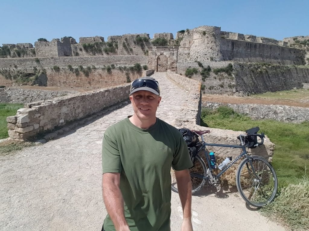 Cycling to Methoni Castle in the Peloponnese