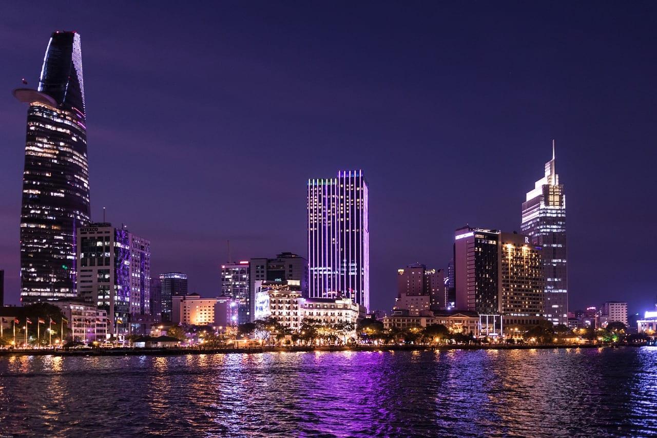 A view of Ho Chi Minh city at night