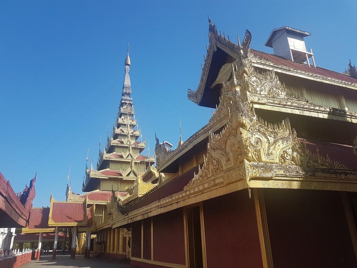 Inside Mandalay Palace in Myanmar