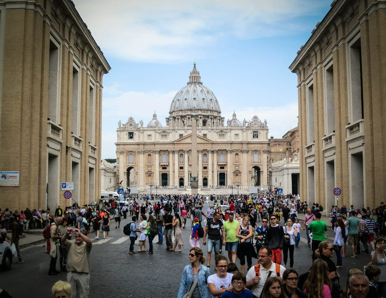 Expect lots of people inside the Vatican