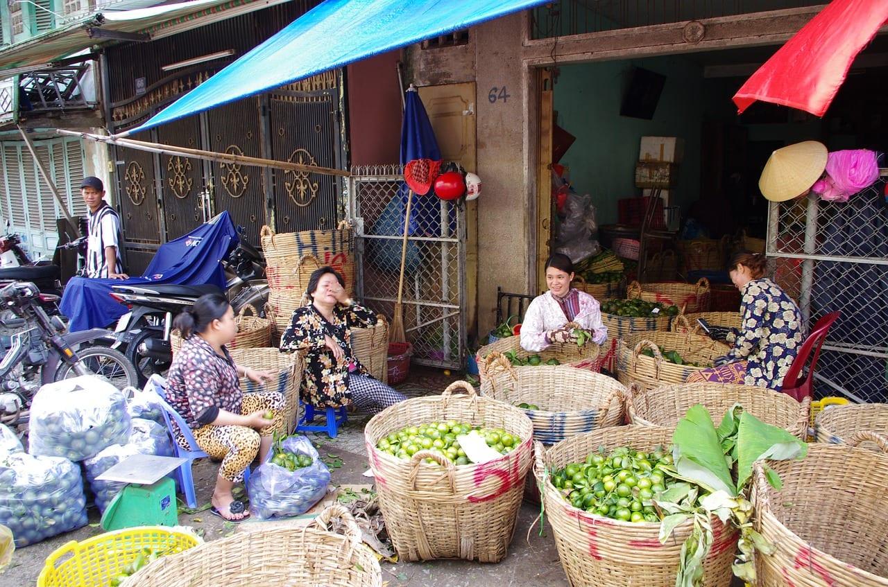 Market scene in Saigon