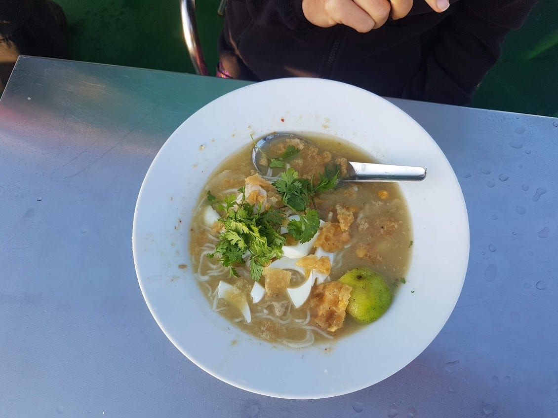 Mohinga soup is a traditional breakfast dish in Myanmar