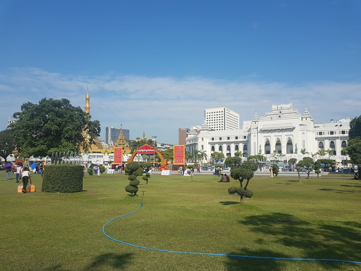 A lovely green space in Yangon