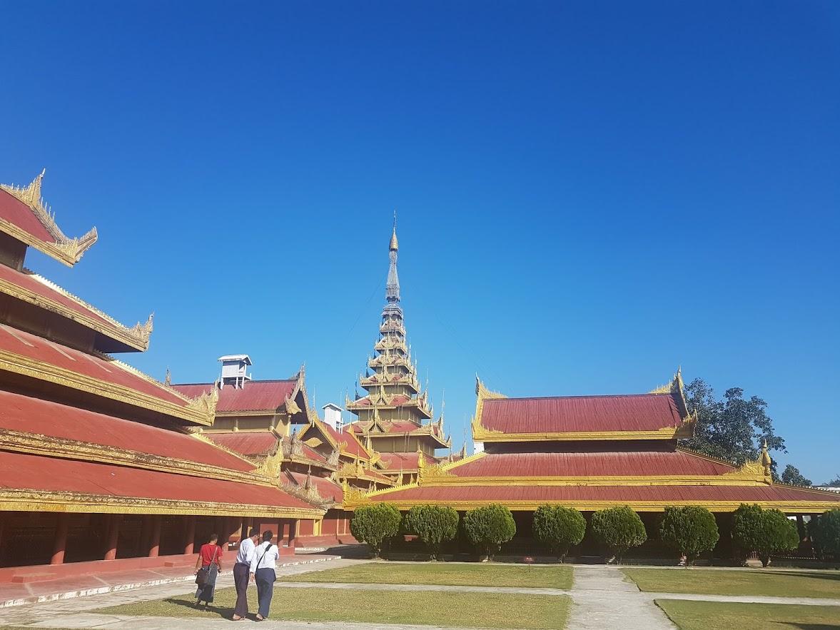 The Royal Palace in Mandalay Myanmar