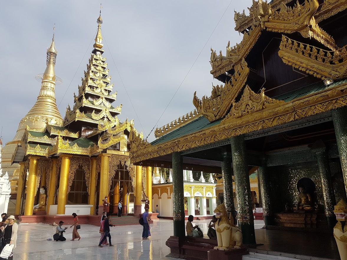 Schwedagon Pagoda in Myanmar