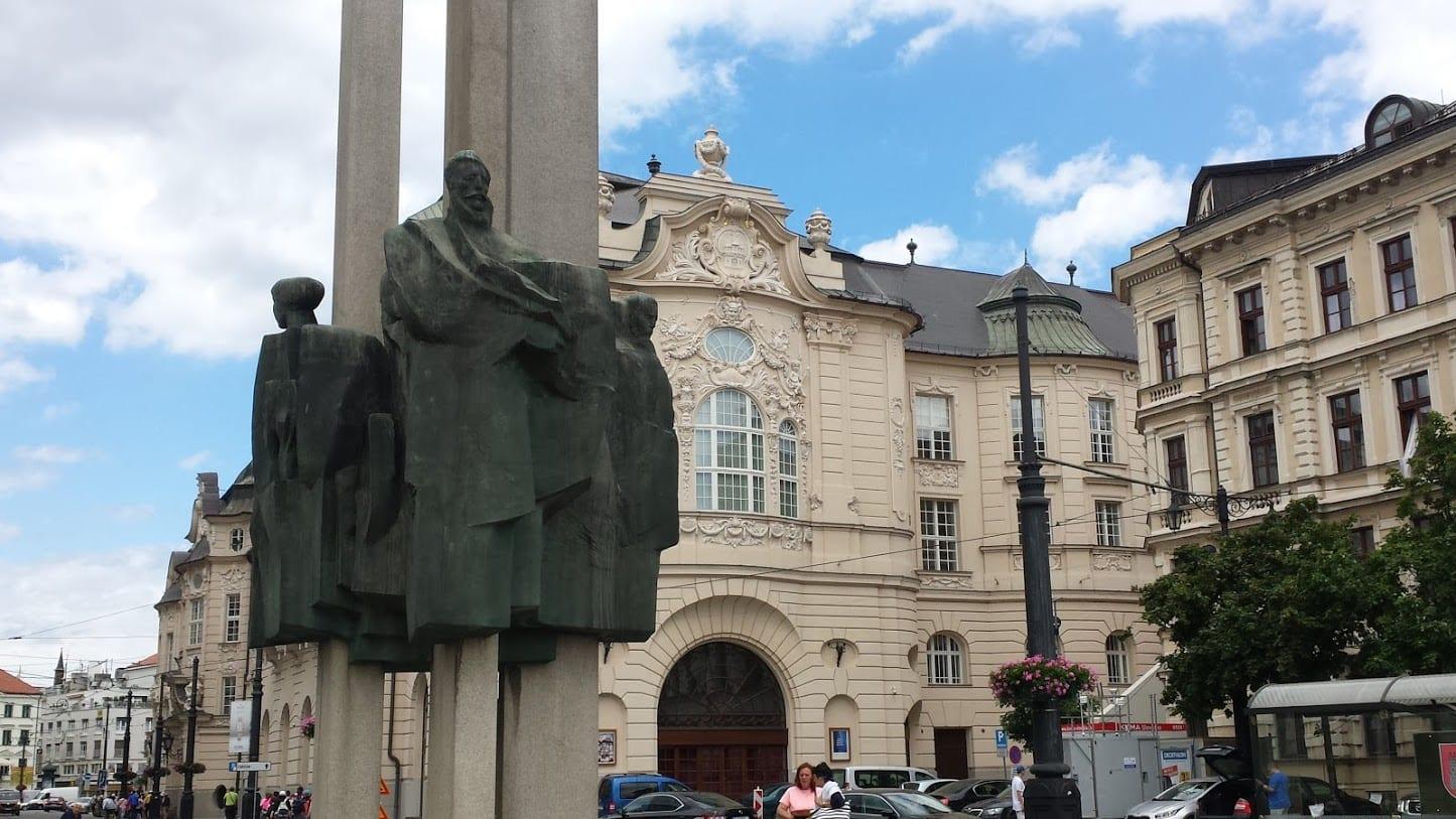 An art display in Bratislava