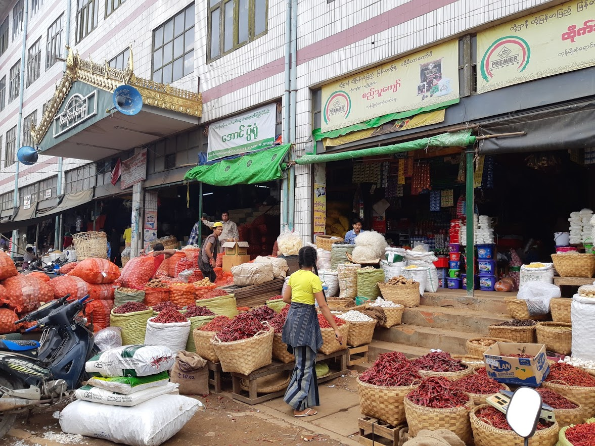 Local market in Mandalay