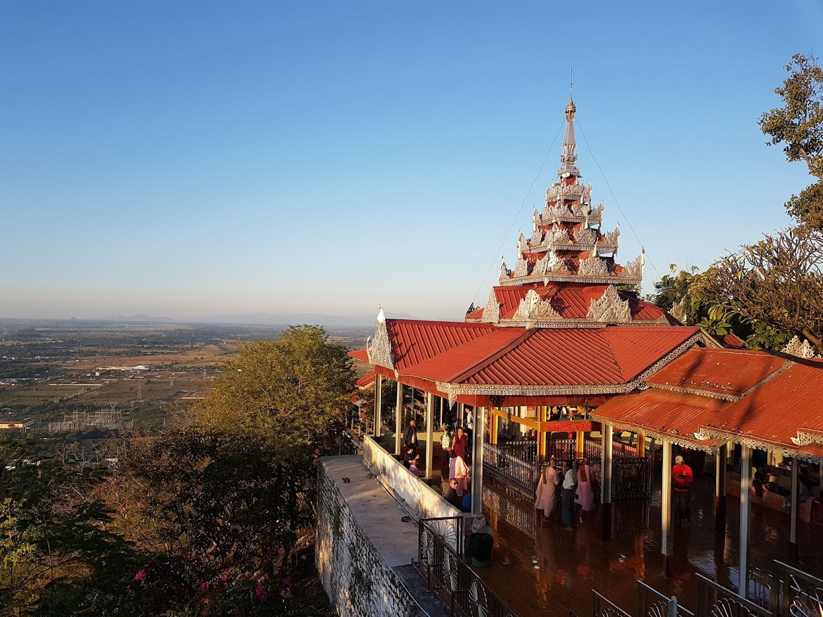 There are great views from the Su Taung Pyae Pagoda in Myanmar