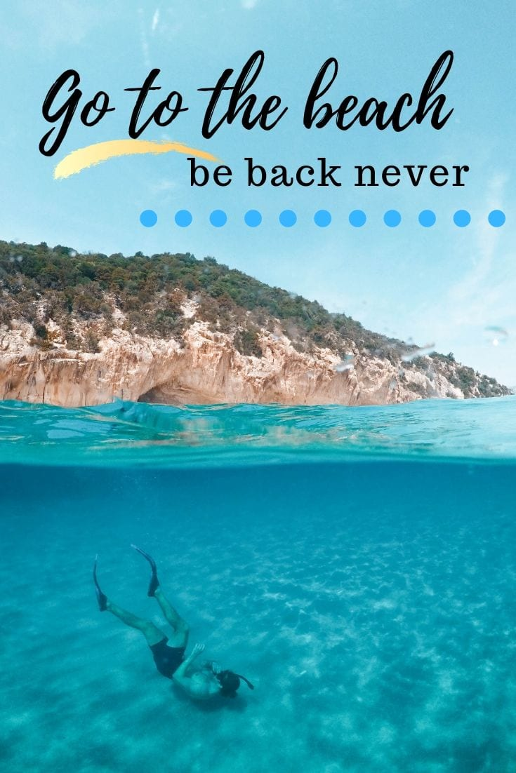 Beach life quotes - Gone to the beach. Be back never.