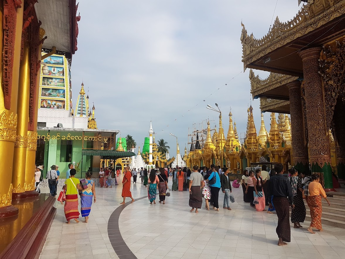 It's mainly locals visiting the temples in Yangon