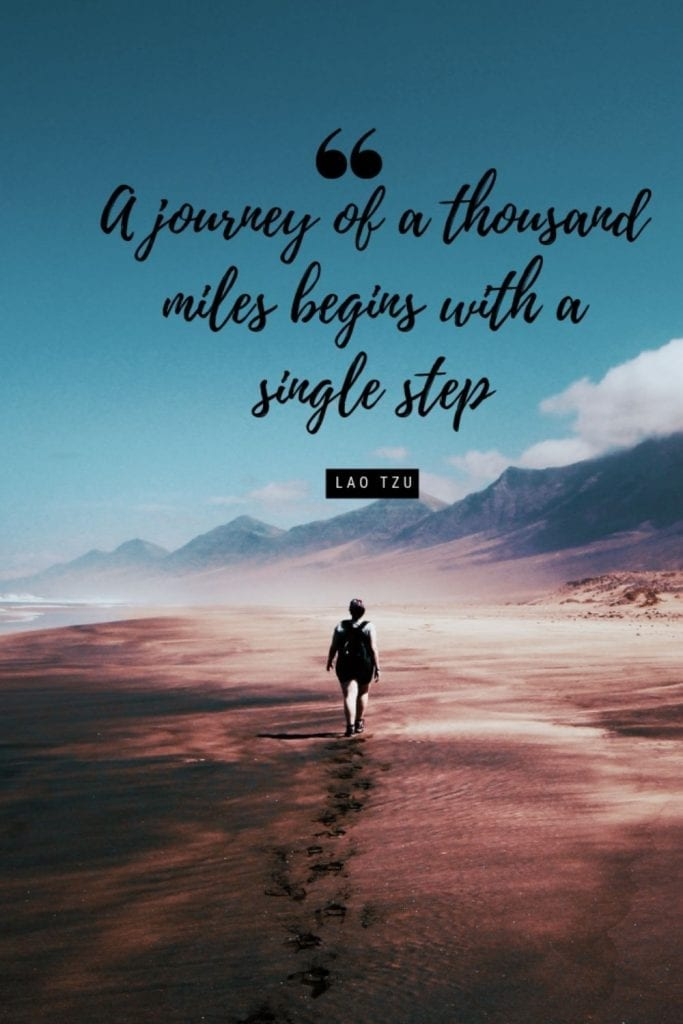 Journey Quote - A journey of a thousand miles begins with a single step