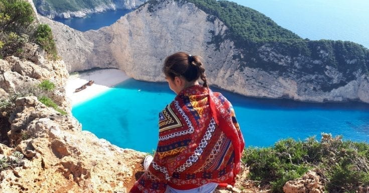 Visit the famous Shipwreck beach and Blue Caves in a glass-bottom boat