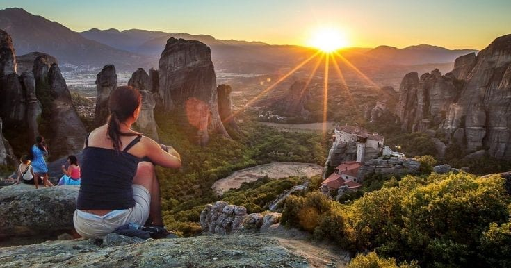 Meteora half day evening tour – Watch the sunset over Meteora