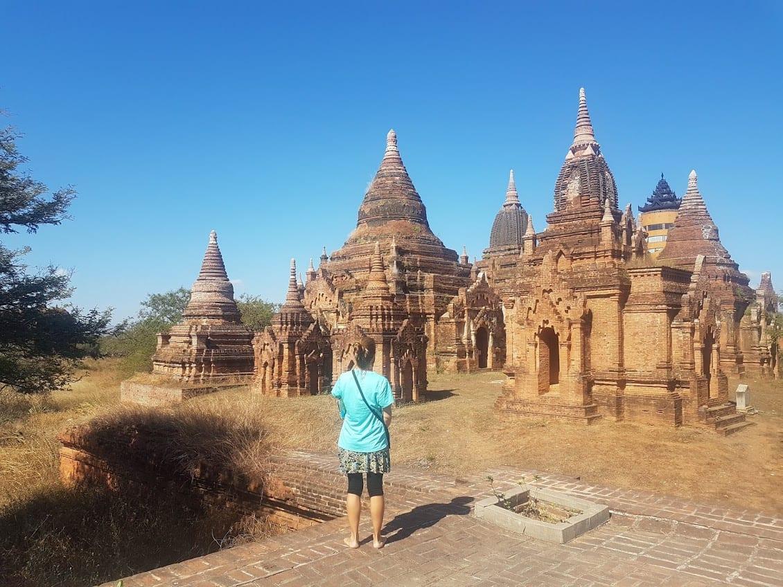 Vanessa exploring the Bagan temples in Myanmar