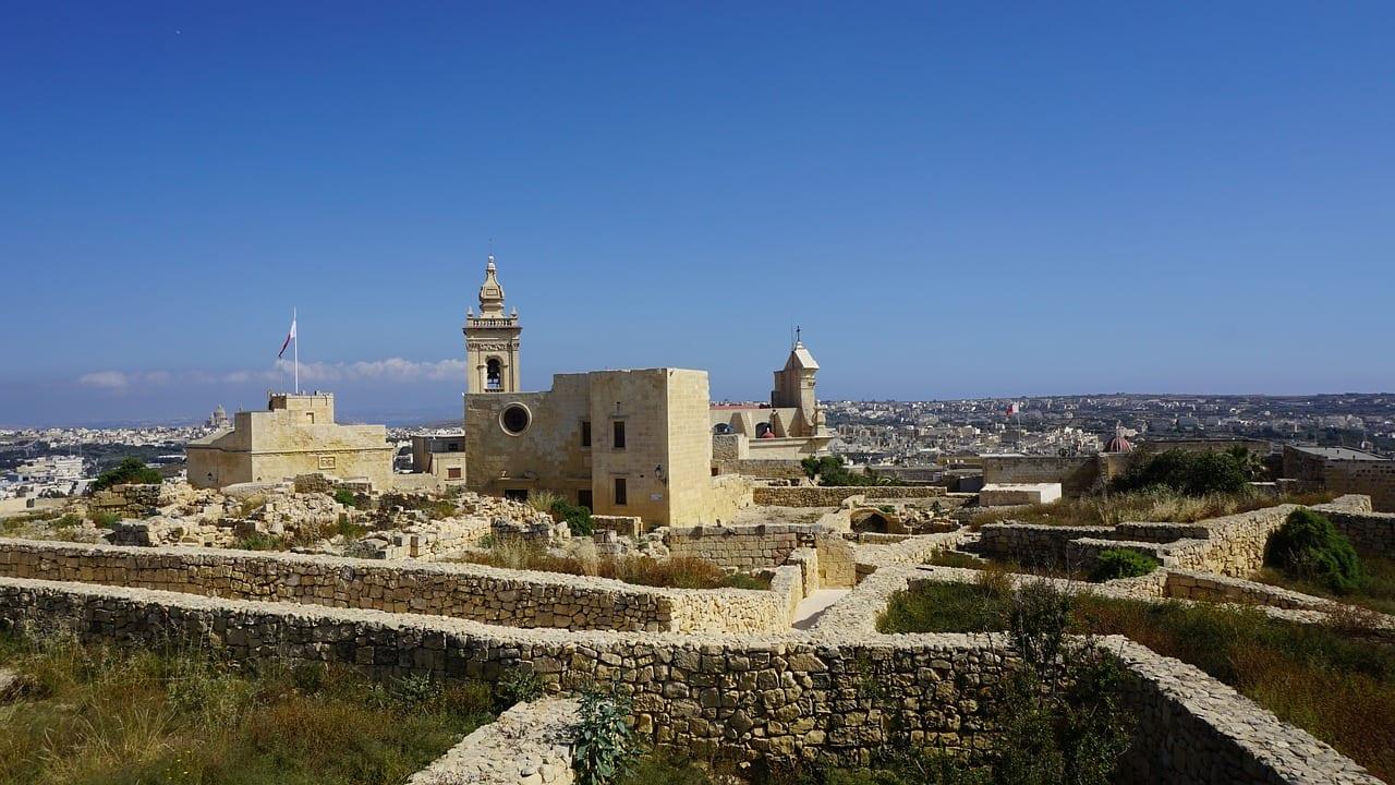 Victoria citadel in Malta