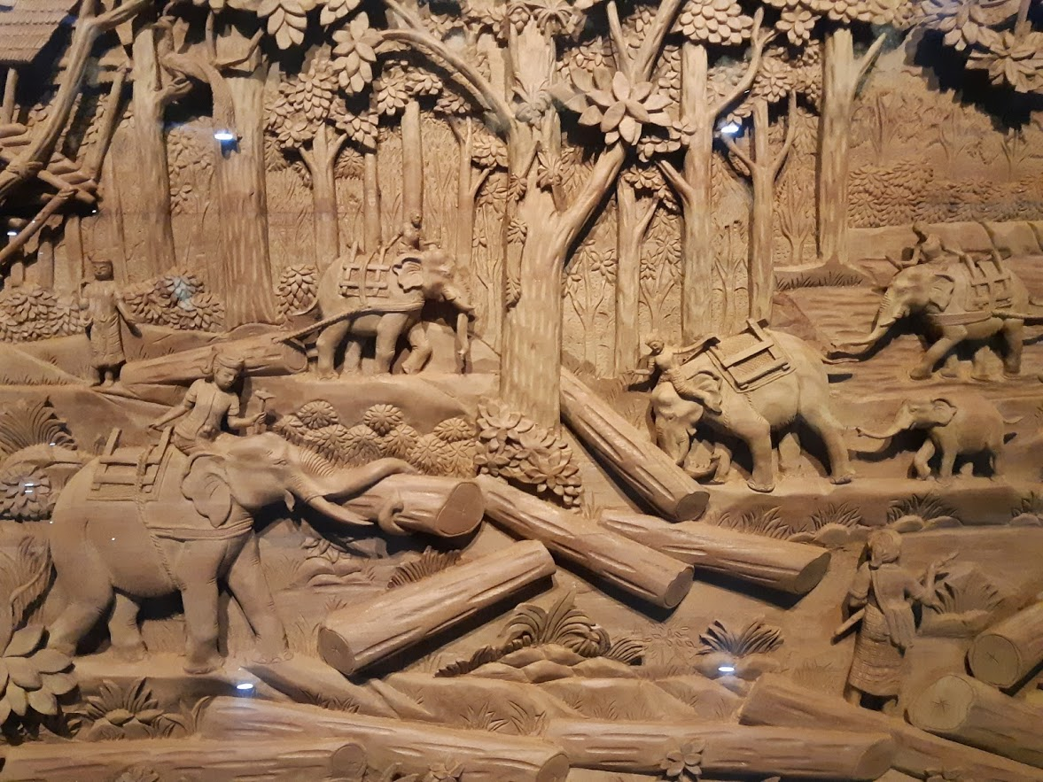 Wood carving from the Yangon Museum