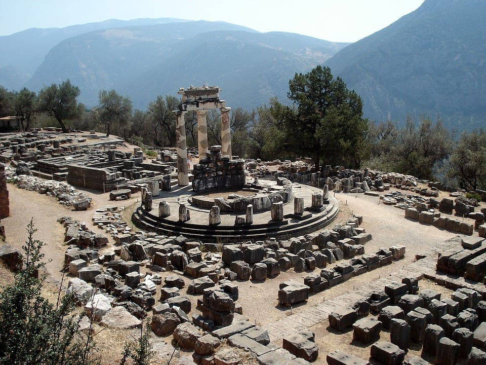 The site of Delphi in Greece