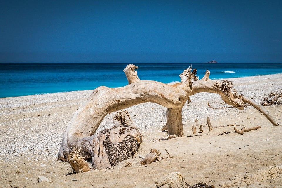 Egremni beachin Lefkada Greece