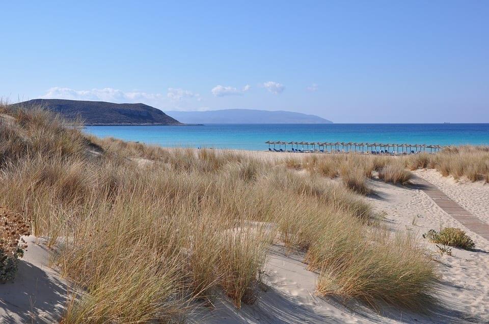 Elafonisos Beach in the Peloponnese of Greece