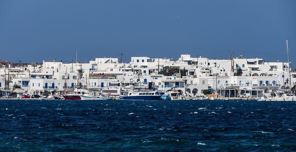 Looking out over Antiparos in Greece