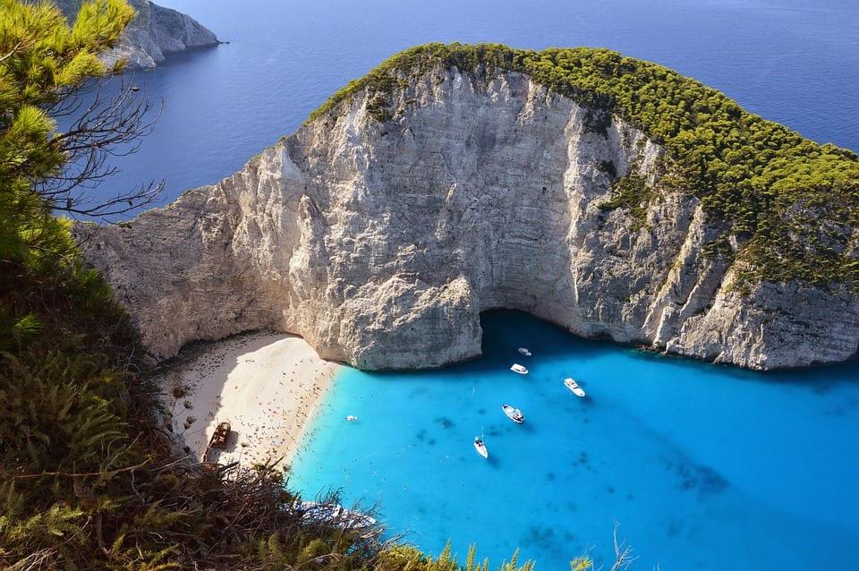 The famous shipwreck beach of Zakynthos