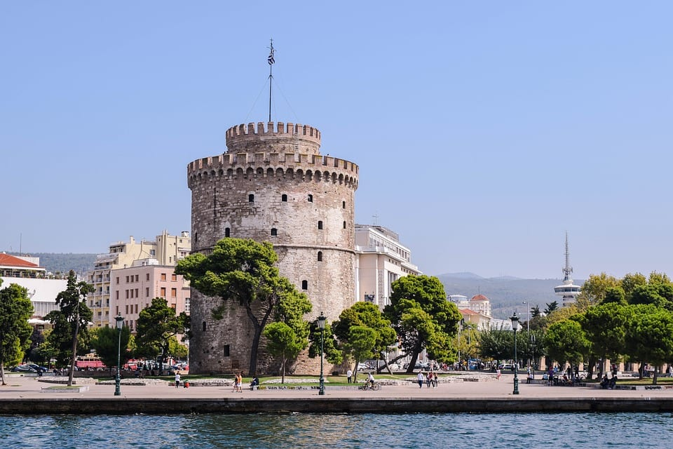 The White Tower of Thessaloniki in Greece