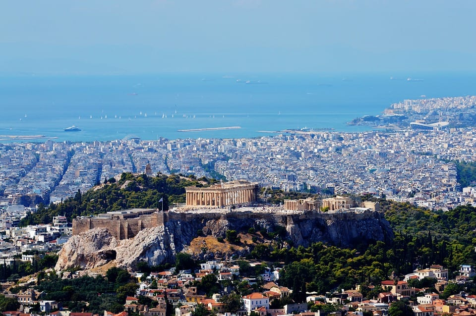 A view of Athens from above