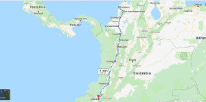 Bike touring route in Colombia