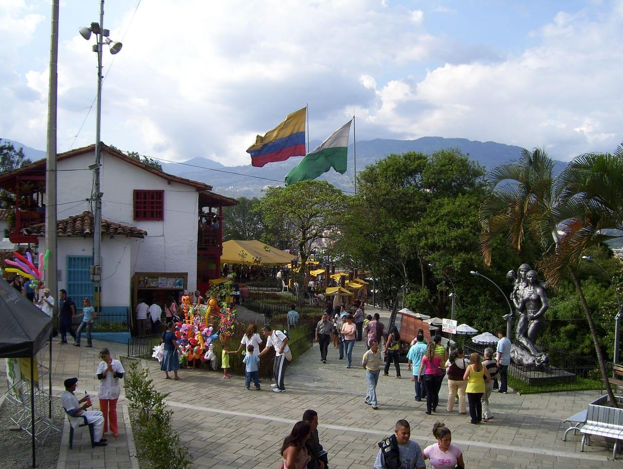 A square in Medellin, Colombia