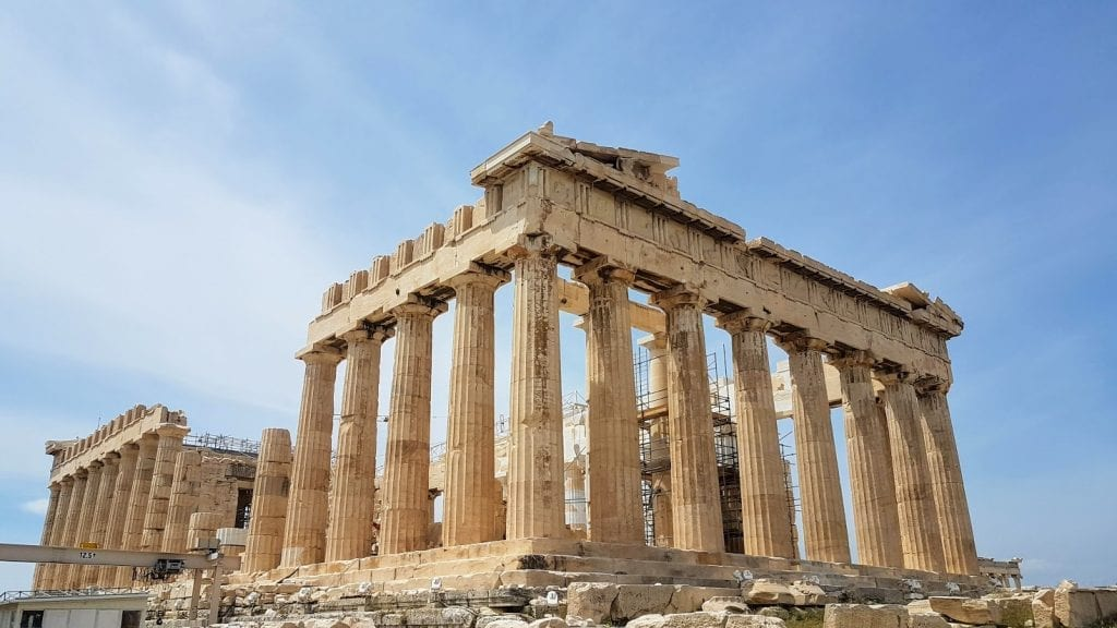 The famous Parthenon in Athens Greece