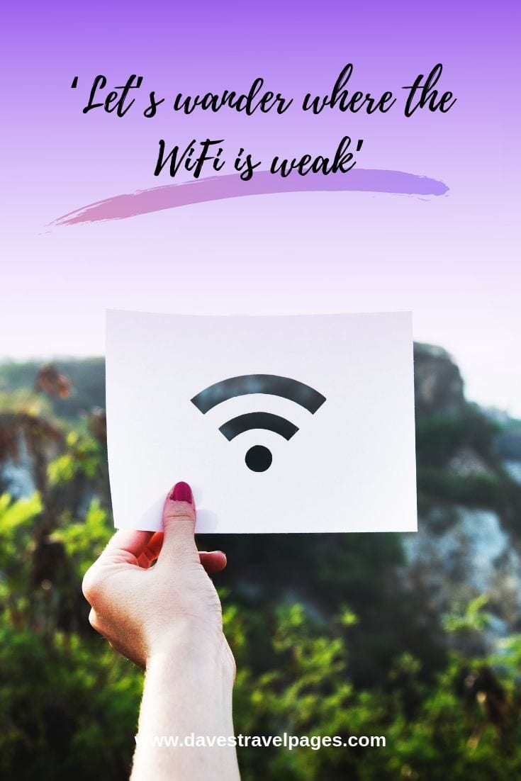 Get away from it all: Let's wander where the WiFi is weak