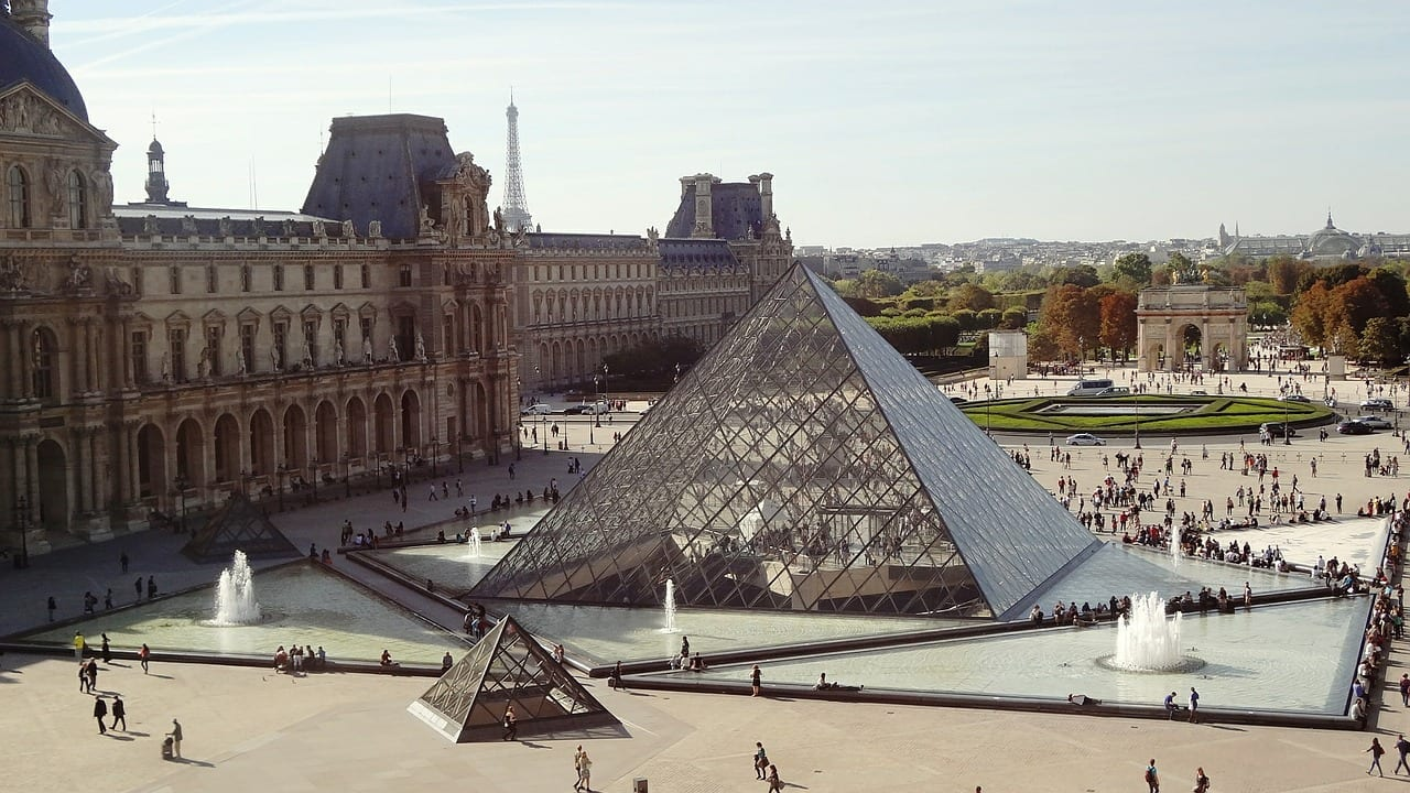 Visiting the Louvre in Paris in November