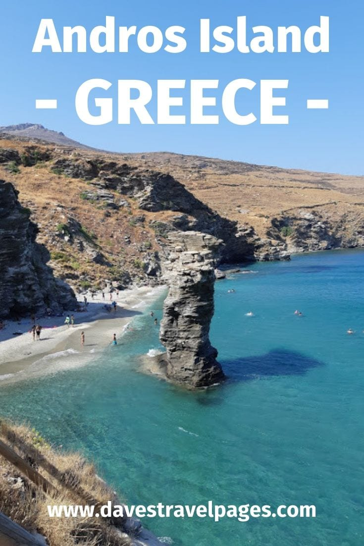Andros Island Greece: A complete guide on how to travel around the Greek island of Andros.