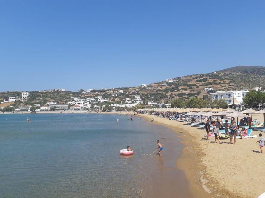 Batsi beach in Andros